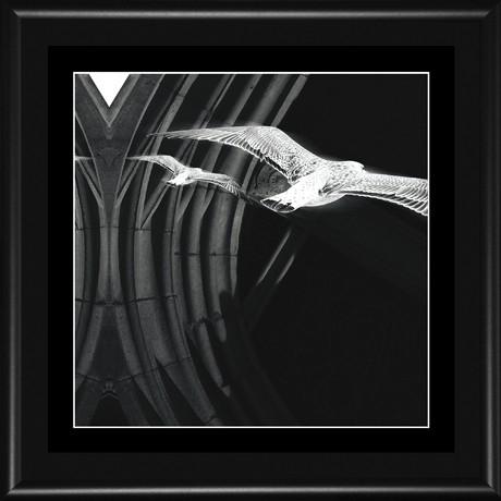 MANDALA 003a - 18x18 (15x15) rám černý kov