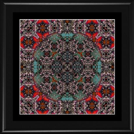 MANDALA 076 - 18x18 (15x15) rám černý kov