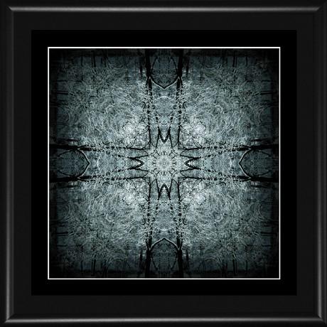 MANDALA 083 - 18x18 (15x15) rám černý kov